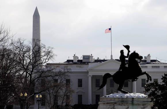 El Obelisco a Washington, la Casa Blanca y el monumento al General Lafayette, tres símbolos de la ciudad. Foto: Ismael Francisco/ Cubadebate