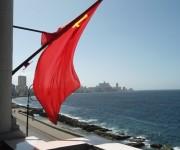 Bandera Soviética en La Habana. Foto tomada en el restaurant Nasdarovie, en Malecón. Foto: Magali Martin / Cubadebate