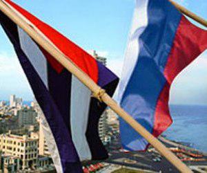 Banderas de Cuba y Rusia. (Foto: Archivo.)