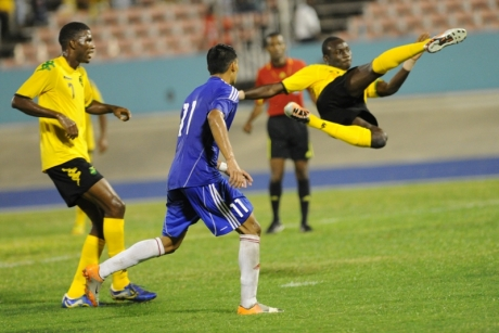 Cuba ante Jamaica 30 de marzo 2015. Foto: Sitio web de la Federación Jamaicana de Fútbol