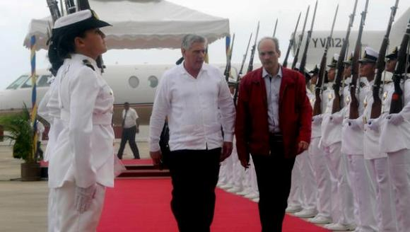 Díaz canel en Venezuela