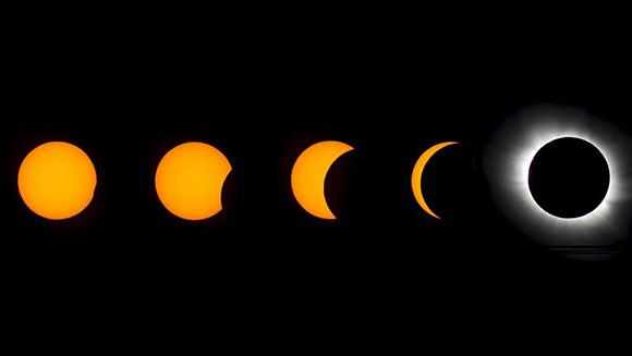 Así fueron las diferentes fases del eclipse solar desde Svalbard, Noruega. Foto: Reuters