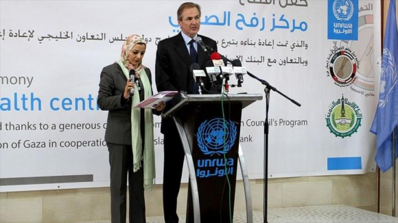 El director de la UNRWA en Gaza, Robert Turner. Foto: HispanTV