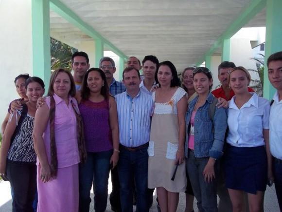 El Héroe Fernando González en la Universidad Pedagógica de Holguín. Foto: Lic. Isander Arce Machado./ Cubadebate