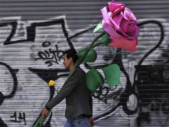 oven caminando por la avendia Caracas en Bogotá. Foto: Abel Cárdenas El Tiempo / Colombia