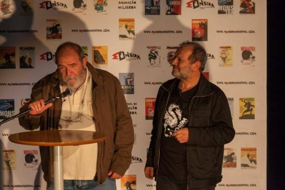 Juan Padrón en el Festival de Cine Animado de Portugal. Foto: Embacuba Portugal / Cubadebate