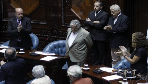 Pepe Mujica en el senado