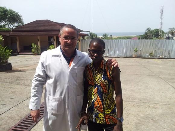 Ronald en Liberia. Foto del muro de Facebook de Ronald.