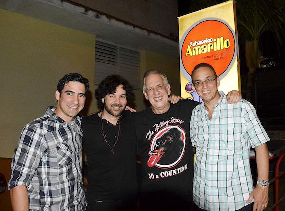 Antonio Guerrero (hijo), Osamu, Guille Vilar y Tony.  Foto: Yailín Alfaro.