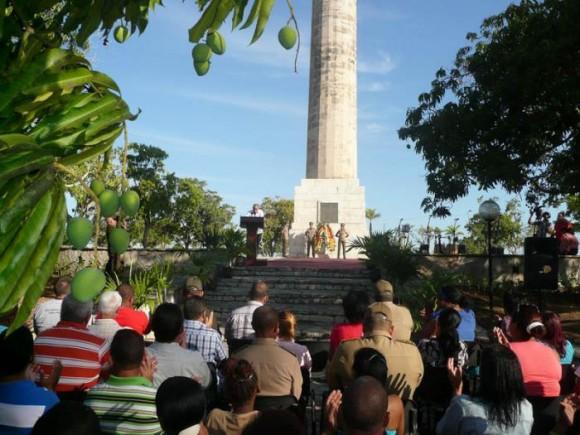 Como ejemplo vivo de principios y firmeza fue recordada la Protesta de Mangos de Baraguá. Foto: Eduardo Palomares/ Granma