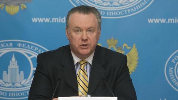 El portavoz de la Cancillería rusa, Alexandr Lukashevich.