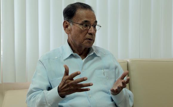 Alí Rodríguez Araque, embajador de Venezuela en Cuba, este viernes en La Habana. Foto: Ladyrene Pérez/ Cubadebate