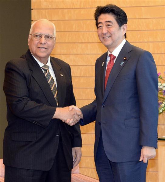 Recibió Primer Ministro de Japón a Vicepresidente cubano Ricardo Cabrisas