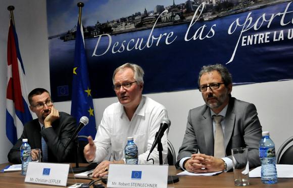 Ben Nupnau, Chistian Leffler y Robert Steinlechner. Foto: Ladyrene Pérez/ Cubadebate.