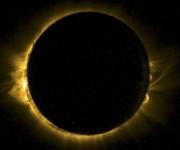 El eclipse visto desde el minisatélite Proba 2 de la Agencia Espacial Europea (ESA). Foto: Reuters