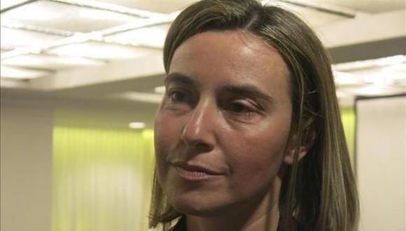 La jefa de la diplomacia de la Unión Europea, Federica Mogherini, en una entrevista con la agencia EFE en La Habana. Foto: EFE