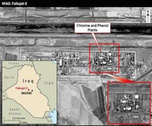 Imágenes divulgadas por la CIA para justificar la invasión a Ira.