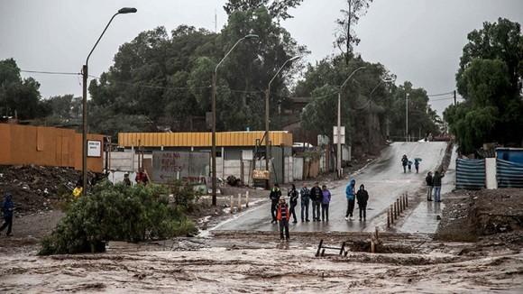 Panorama luego de intensas lluvias en Atacama, Chile. Foto: Reuters
