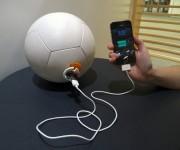 SOCCKET  Balón de fútbol que durante la noche se convierte en lámpara. Las personas pueden jugar con la pelota durante 30 minutos y esta acumula energía cinética que da luz durante 3 horas. Las estadísticas de UNICEF confirman que una de cada cinco personas no cuenta con acceso a la electricidad y el invento, obra de cinco mujeres, busca mejorar el mundo a través del deporte.