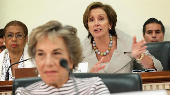Líderes del Caucus Progresista del Congreso (CPC) de Estados Unidos.