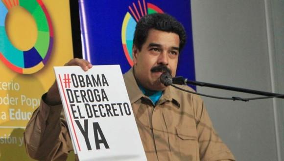 Maduro exige en Panamá derogación del decreto contra Venezuela