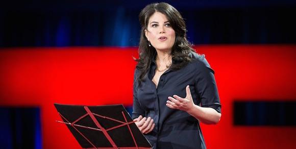 Mónica Lewinsky en TED. Foto: BBC.