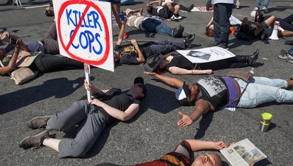 Una protesta en EEUU contra la violencia policial. Foto: Getty Images