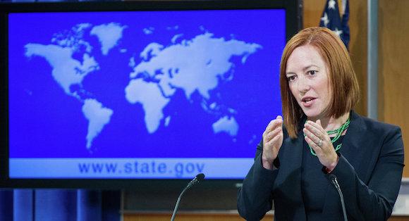 La Portavoz del Departamento de Estado, Jennifer Psaki. Foto: AFP