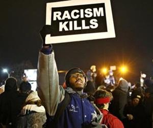 Imagen captada durante las protestas de Ferguson.