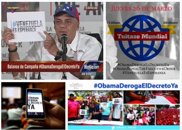 En marcha tuitazo mundial #ObamaDerogaElDecretoYa