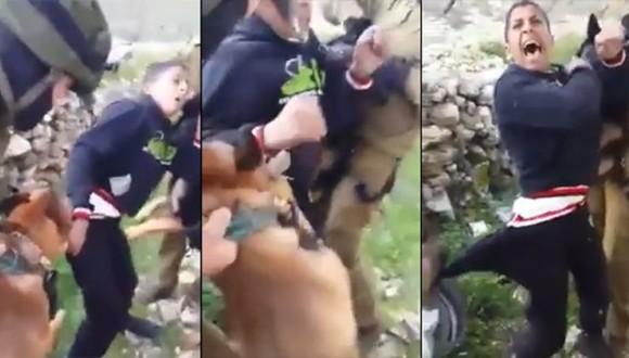 video soldados israelís niño palestino