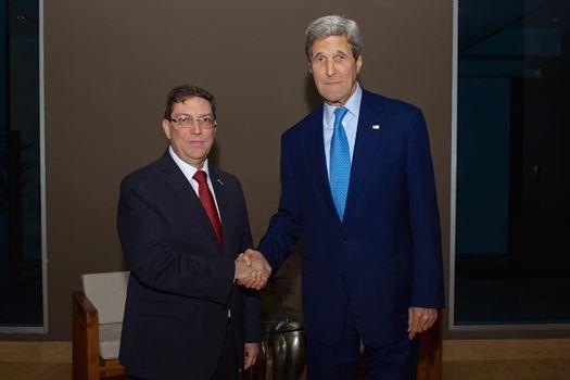 Se reunieron cancilleres de Cuba y EE.UU.