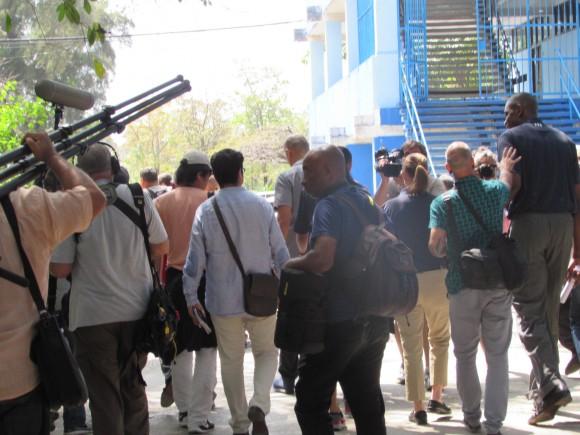 Camino a la sesión de entrenamiento. Foto: Aynel Martínez Hernández/Cubadebate
