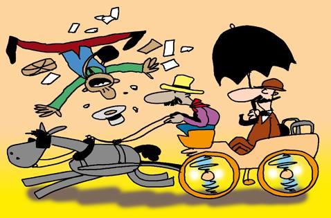 Chofer Paragüero. Ilustración Juan Padrón