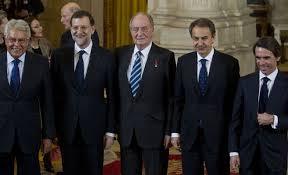 ESPAÑA PRESIDENTES CON EL REY