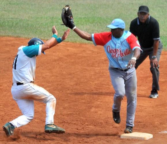 Ariel Borrero jugando con Ciego de Ávila.Año 2015 Foto: Ricardo López Hevia /Archivo de Cubadebate