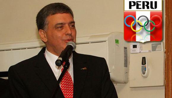 José Quiñones González, Presidente del Comité Olímpico de Perú.