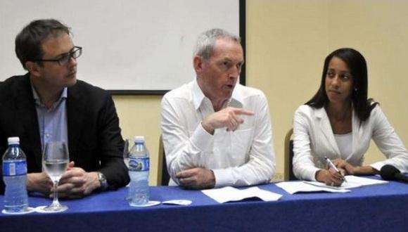 Lord John Hutton en La Habana durante un encuentro entre empresarios británicos y cubanos. Foto: Alberto Borrego.