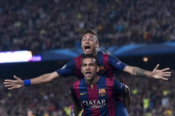 Protagonistas del segundo gol. Foto: AFP