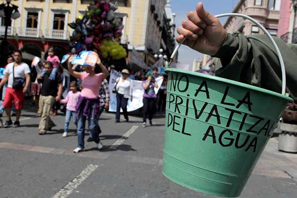 No a la privatización del agua