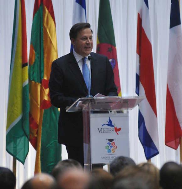 Foro de Rectores de las Américas en el Centro de Convenciones Megapolis, inaugurado por Juan Carlos Varela, Presidente de la República de Panamá. Foto: Juvenal Balán/ Granma