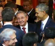 Raúl y Obama en Panamá Foto: Reuters