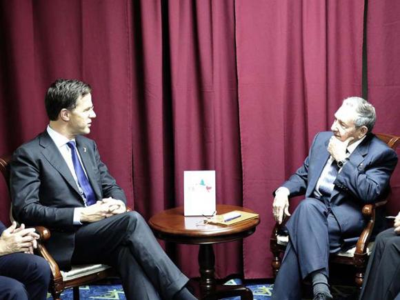 El primer ministro del Reino de los Países Bajos, Mark Rutte, expresó el interés de promover la presencia de empresas holandesas en la Isla. Foto: Estudio Revolución