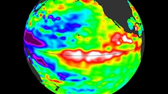 La llamada Oscilación del Pacífico (PDO, por sus siglas) se caracteriza por el calentamiento de las aguas ecuatoriales al este del Pacífico. Foto: NASA.