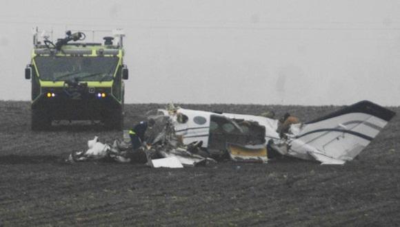 En la zona del accidente se observó densa niebla. | Foto: chicagotribune.