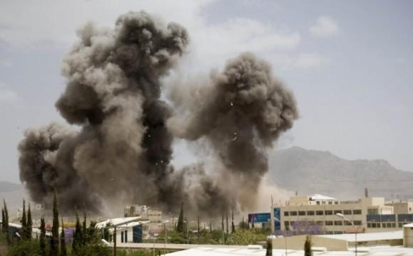 Bombardeo en Yemen. Foto tomada de mxqnoticias.mx