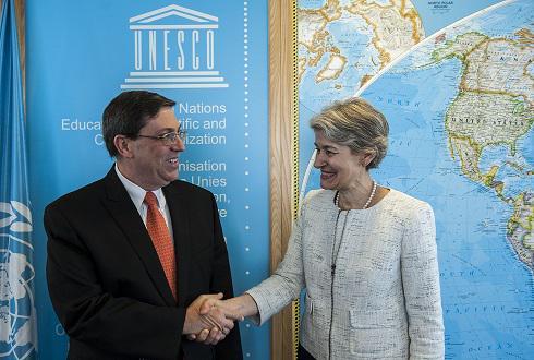 La Directora General de la Organización de Naciones Unidas para la Educación, la Ciencia y la Cultura (UNESCO), Irina Bokova. Foto: CubaMINREX.