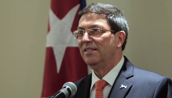 Rueda de prensa del canciller cubanao Bruno Rodríguez. Foto: Ismael Francisco/ Cubadebate