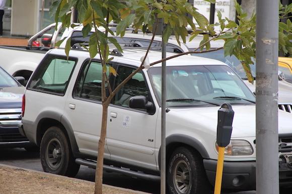 Carro de la NED en el Parque Porras. Foto: David Vázquez