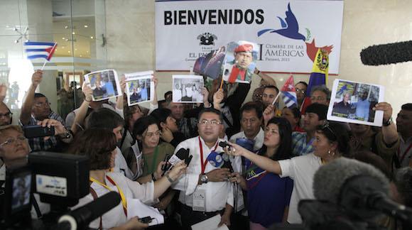 El Padre Enrique Vidal Atencio, de Venezuela, en la conferencia de prensa. Foto: Ismael Francisco/ Cubadebate